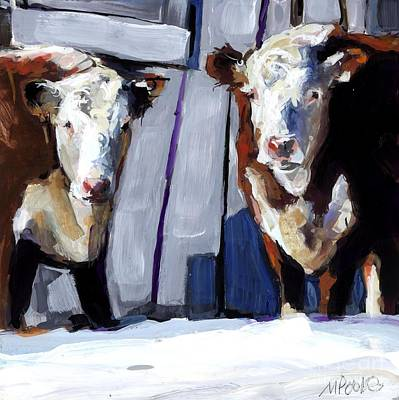 Winter In New England Painting - Knee Deep by Molly Poole