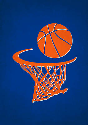 Knicks Team Hoop2 Print by Joe Hamilton