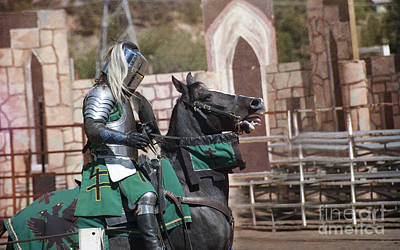 Athletic Sport Photograph - Knight And His Horse by Juli Scalzi