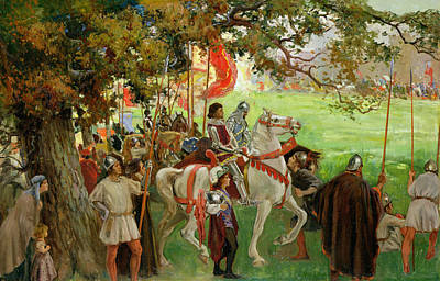 Joust Painting - Knights Assembling, From Sir Nigel by George Edmund Butler