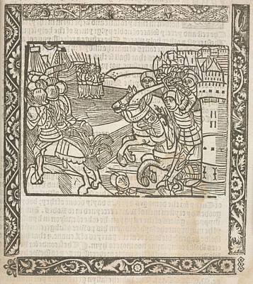 Knights Hospitaller Print by British Library