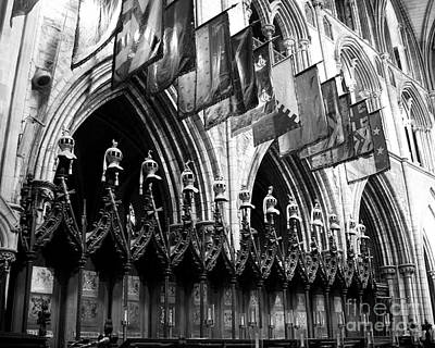 St. Patricks Cathedral Photograph - Knights Of St Patrick 2 Bw by Mel Steinhauer