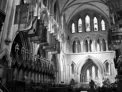 St. Patricks Cathedral Photograph - Knights Of St Patrick Bw by Mel Steinhauer