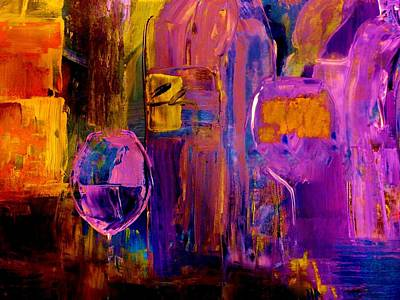 Wine Glass Ice Sculpture Print by Lisa Kaiser