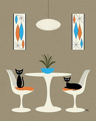 Knoll Table Print by Donna Mibus