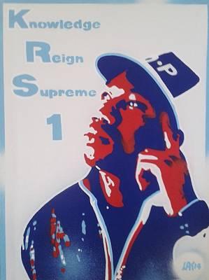 Knowledge Reign Supreme Original by Leon Keay