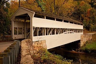Knox Bridge In Autumn Print by Michael Porchik