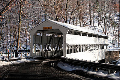 Valley Forge Photograph - Knox Bridge In The Snow by Michael Porchik