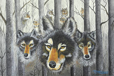 Knoxville Wolves Print by Terry Lewey