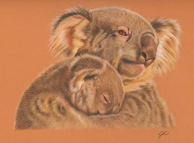 Koala Drawing - Koalas by Genevieve Desy