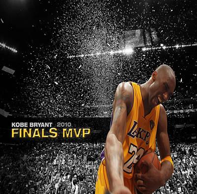 Magic Johnson Digital Art - Kobe Bryant by Brian Reaves