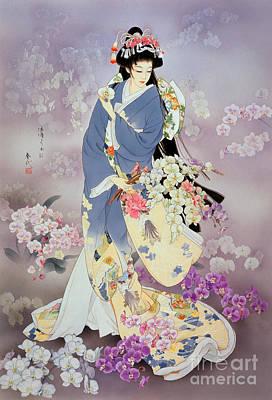 Purple Digital Art - Kochouran by Haruyo Morita