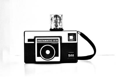 Kodak Photograph - Kodak Instamatic In Black And White by Kelly Hazel