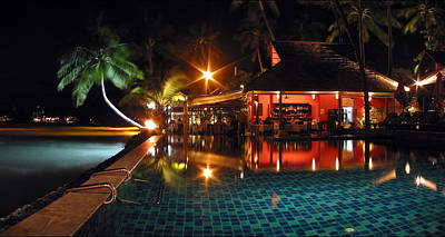 Light Photograph - Koh Samui Beach Resort by Adam Romanowicz