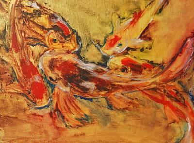 Fish Painting - Koi by Jani Freimann