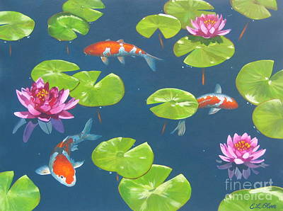 Koi Pond Original by Elisabeth Olver