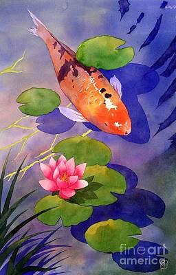 Water Garden Painting - Koi Pond by Robert Hooper