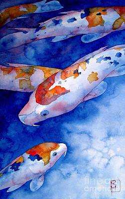 Koi Fish Painting - Koi by Robert Hooper
