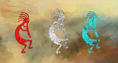Native American Symbols Painting - Kokopellis by GCannon