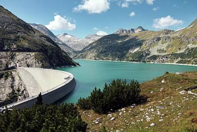 Kolnbrein Dam And Reservoir Print by Martin Rietze