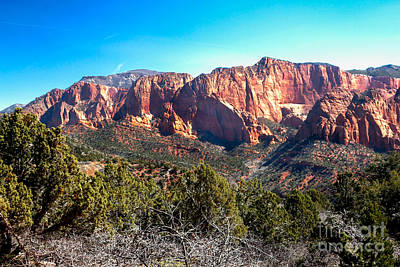 Kolob Canyons Print by Robert Bales