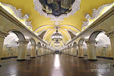 Ballroom Photograph - Komsomolskaya Station In Moscow by Lars Ruecker