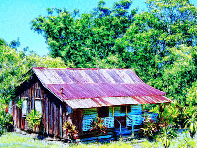 Haleiwa Painting - Kona Coffee Shack by Dominic Piperata