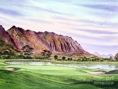 Koolau Golf Course Hawaii 16th Hole Print by Bill Holkham