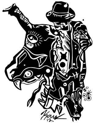 Michaeljackson Digital Art - Kop 2 Michael Jackson by Kamoni Khem