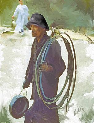 Sweeps Digital Art - Korea Chimney Sweep by Dale Stillman