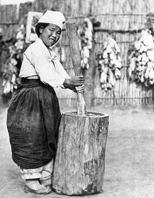 Ability Photograph - Korean Girl Making Miso by Underwood Archives