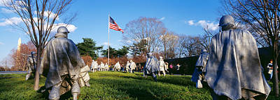 District Of Columbia Photograph - Korean Veterans Memorial Washington Dc by Panoramic Images
