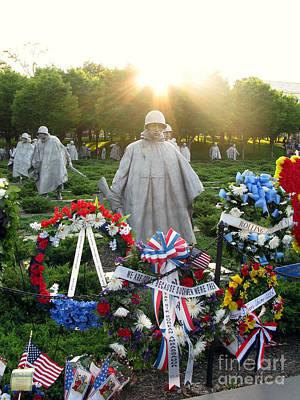 Korean War Memorial In Dc Print by Olivier Le Queinec