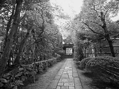 Bamboo Fence Photograph - Koto-in Temple Stone Path by Daniel Hagerman