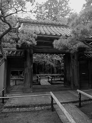 Tea Room Photograph - Koto-in Zen Temple Entrance - Kyoto Japan by Daniel Hagerman
