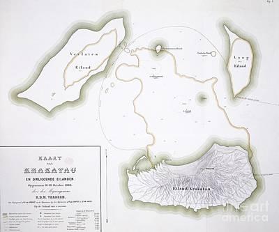 Krakatoa Map, 1885 Print by Natural History Museum, London