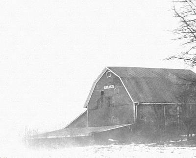 Restoration Drawing - Kraus Barn  by Rosemarie E Seppala