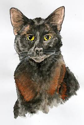 Cat Painting - Kreature by Rebecca Davis