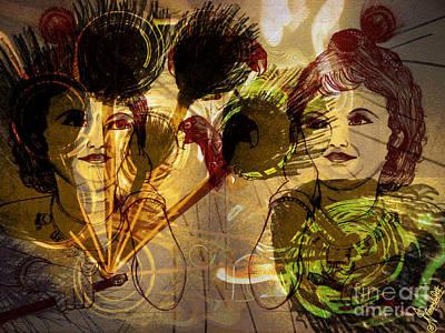 Abstract Digital Drawing - Krishna Abstract Art by Artist Nandika  Dutt