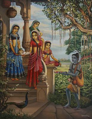 Vishnu Painting - Krishna As Shaiva Sanyasi  by Vrindavan Das