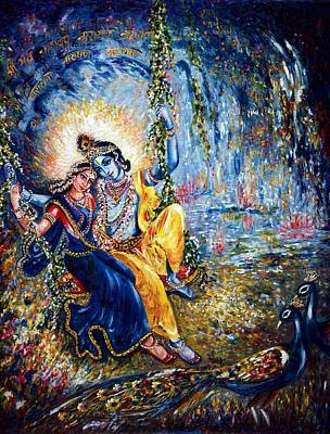 Chakra Painting - Krishna Leela by Harsh Malik