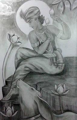 Krishna Print by Mayur Sharma