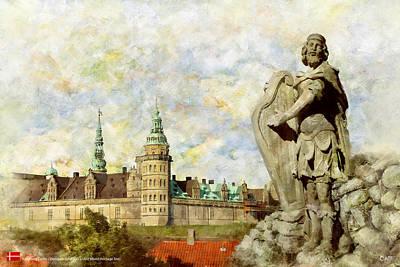 Souvenirs Painting - Kronborg Castle by Catf