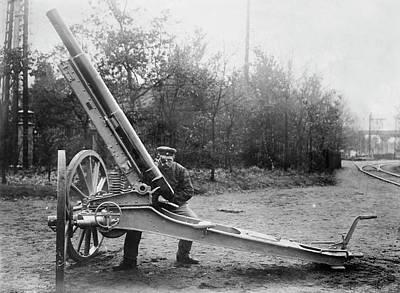 Krupp Balloon Gun Print by Library Of Congress