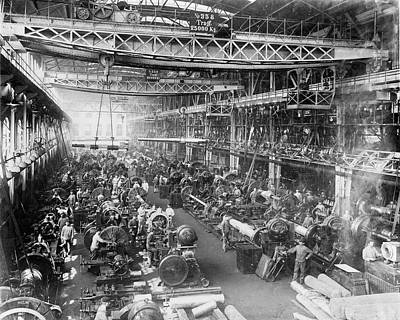 Factory Photograph - Krupp Gun Factory by Library Of Congress
