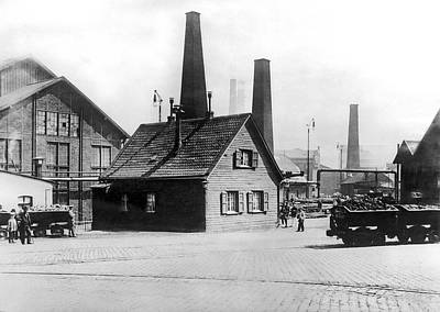 Krupp Works Founded Here Print by Underwood Archives