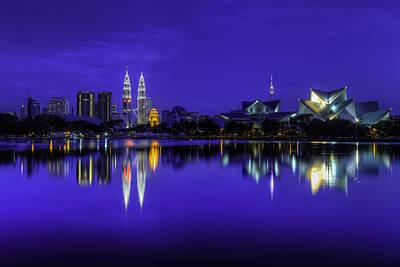 Kuala Lumpur Skyline Print by Mario Legaspi