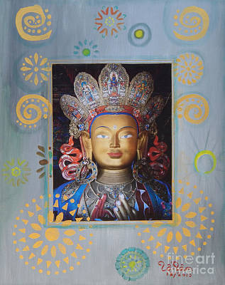 Kuan Yin - God Of Compassion Print by To-Tam Gerwe