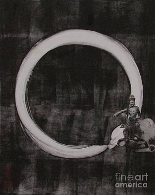 Kuan Yin With Enso Print by Beth Fischer