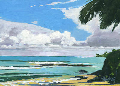 Haleiwa Painting - Kuau Beach Morning by Stacy Vosberg